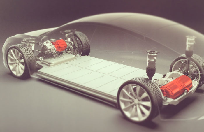 Tesla dual powerful motors.