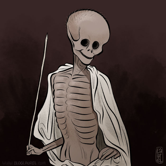 Rotten dot com skeleton