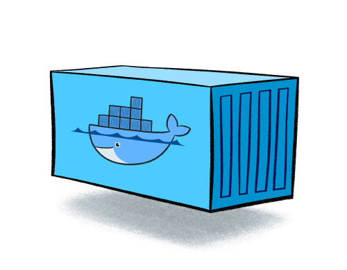 Container Docker blue whale Moby Dock