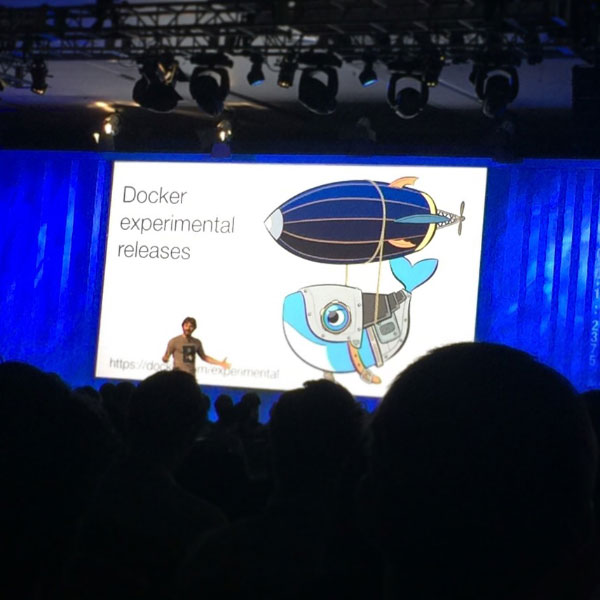 Solomon Hykes, DockerCon (Docker), Marriott hotel of San Francisco, 2015.