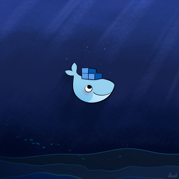 Moby Dock, Docker, by Bloglaurel