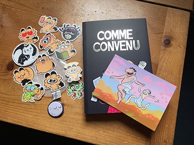 "My last comic book ""Comme convenu"" by Laurel Duermael"