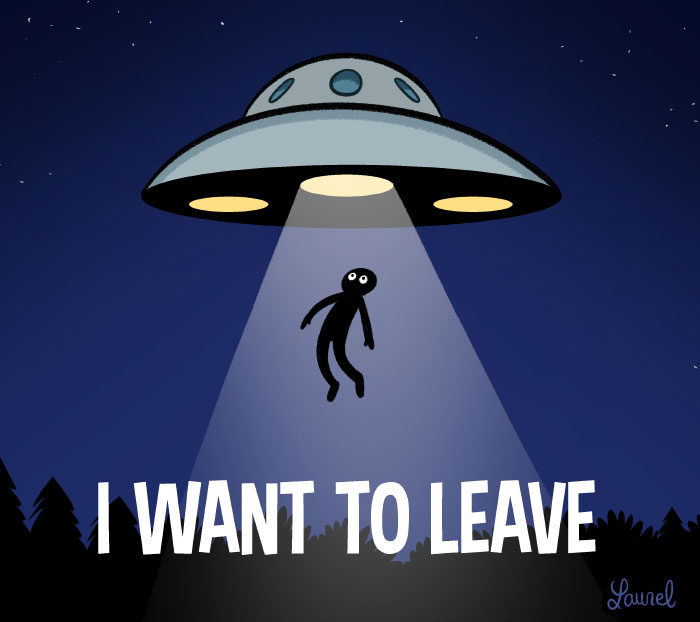 I want to believe - I want to leave