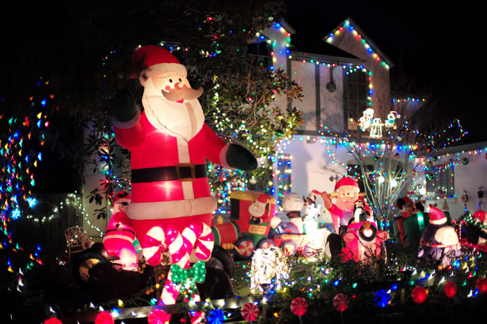 Lights in Burlingame (California) for Christmas, 2016.