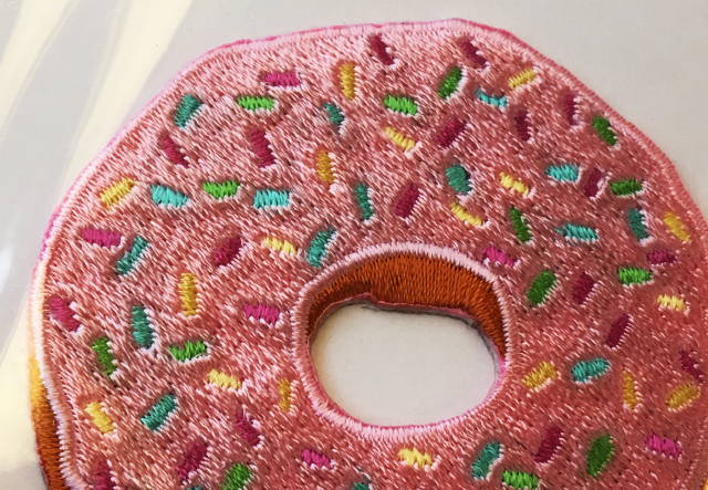 Adhesive patch Paper source donut