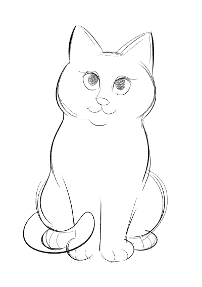 Croquis chat Laurel