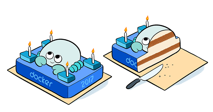 Dessins pour l'anniversaire de Docker par Laurel Duermael - Drawings for Docker birthday